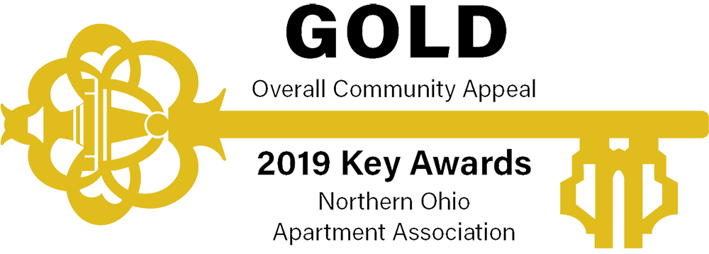 Northern Ohio Apartment Association 2019 Gold Key Award Icon